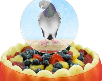As The Pigeon Coos Cake Top Topper