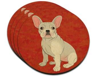 French Bulldog Mdf Wood Coaster Set Of 4