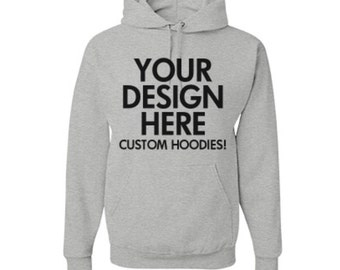 Hooded sweatshirt with embroidery or printed logo