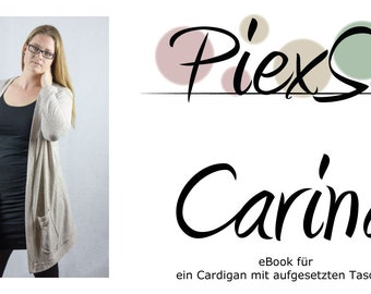 Sewing Pattern Cardigan Carina (eBook) Size 34 - 48
