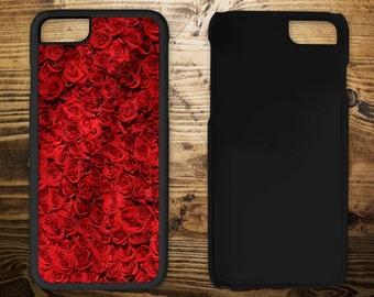 Red roses, iPhone 7 case, iPhone case, iPhone 7 plus, iPhone 6/6s, iPhone 5c, iPhone 5/5s, iPhone 4/4s, Phone case, Mobile phone