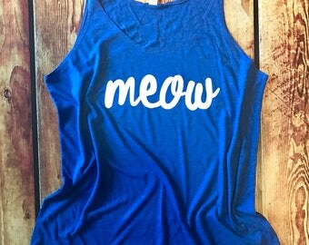 Kentucky Tank Top / Kentucky Shirt / Kentucky Tank / Universit of Kentucky / Wildcats / Kentucky Football / Bella Canvas / Meow / Go Cats