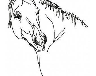 AH 007 Horse -  Machine Embroidery Design 4*4, 5*7, 6*8