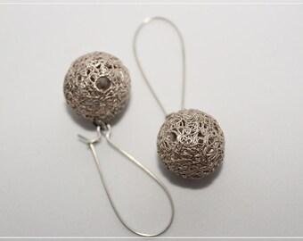 Silver filigrane earrings