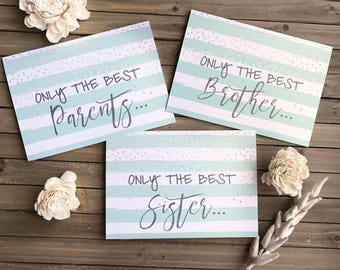 Digital Personalized Card - Pregnancy Announcement - Only the Best...