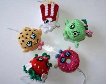 Shopkins Christmas Ornaments - Crochet Pattern Bundle