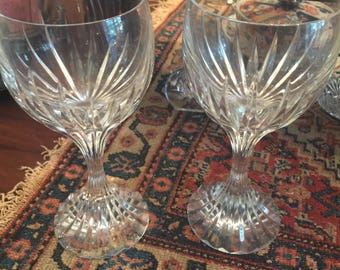 Gorgeous Pair Baccarat Messena Water Glasses
