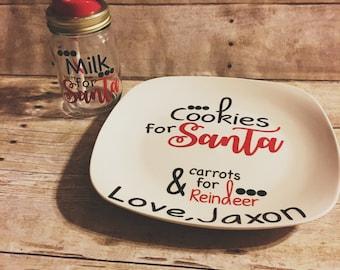 Christmas cookies for santa plate and mug set