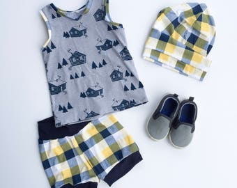 Boys' Summer Set; Tank and Shorts Set; Baby Boy Clothing Set; Boys' Top and Bottom Set; Baby Boy Clothing; Boys' Clothing; Baby Boy Gift Set