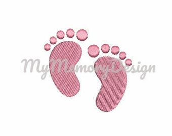 Baby embroidery design - Feet embroidery - Filled stitch mini embroidery - Machine embroidery design - INSTANT DOWNLOAD