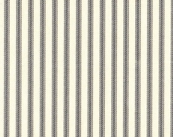 Twin Duvet Cover, Brindle Gray Ticking Stripe, Reversible