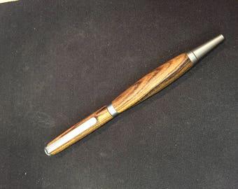 Hand Turned Zebra Wood Pen