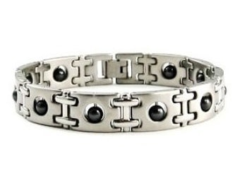 Magnetic Bracelet 316 Stainless Steel Bracelet With Hematite Magnetic Beads #SSB051