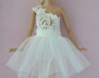 Beautiful handmade Wedding dress for Barbie Fashionistas dolls