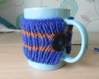 Ravenclaw Book Colours Knitted Mug Cosy