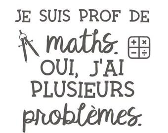 Sticker «I teach math...»