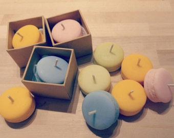 A Set of 4 Macaron Soy Candles