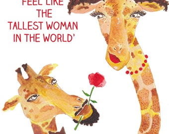 My love | Valentines card, Giraffe, Giraffes, I love you card, for him, for her