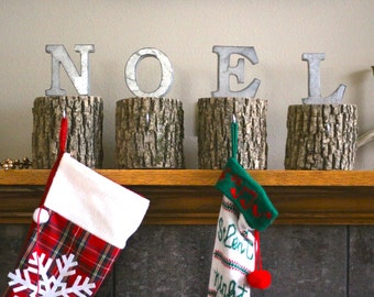 Stocking Holder, Noel, Stocking Hanger, Christmas Stocking Holder, Christmas Decorations, Holiday Decor, Christmas Stocking, Noel Sign