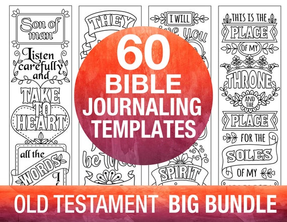 60 bible journaling printable templates OLD TESTAMENT
