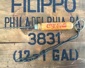 Coca Cola Wood Ice Pick Bottle Opener Advertisement Vintage