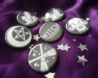 Witchcraft Wicca Pagan Button Pack