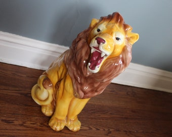 Vintage 2 ft. Tall Ceramic Lion