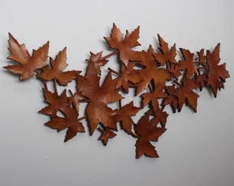 Vintage Large Syroco Maple Leaves Wall Plaque 7413