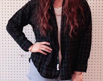Vintage Pendleton Wool Flannel/Vintage Flannel/Vintage Plaid/Pendleton/ Mac Leod Tartan