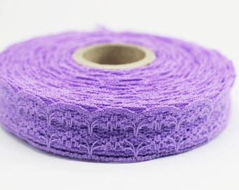 25 mm Lilac Lace trim  - Seam(0.98 inches) Binding hem tape chantilly lace trim for bridal, baby, lingerie, hair accessories  -