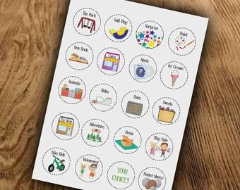 Kids Reward Chart Download, Token Rewards, Behaviour Chart, Rewards, Download, Make Your Own, Print and Cut Tokens, Circle, Magnets, Sticker