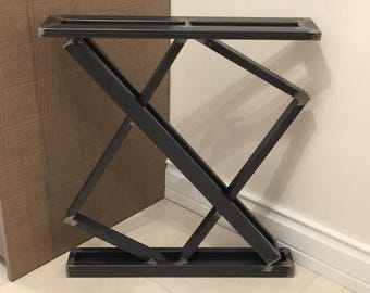 """28"""" Metal Table Legs, Steel Base, Width 24"""", Height 26"""" - 30"""" - Set of 2"""