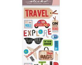 Sticko Classic Stickers-Happy Traveling NM-E5200132