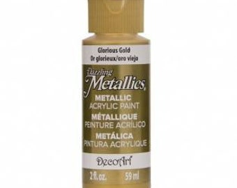DecoArt Dazzling Metallics 60ml Glorious Gold Acrylic Paint