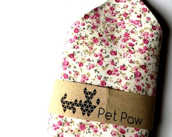 Summer pink fower dog collar bandana scarf
