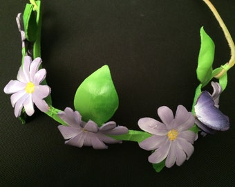 Daisy leather floral crown