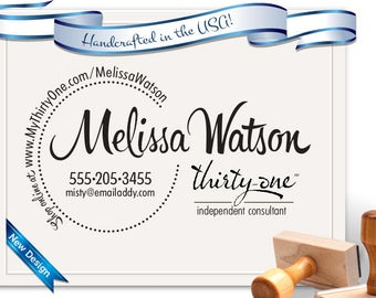 Thirty-One Independent Consultant Custom Stamp for Brochures, cards, etc... Personalized Free!  Business Stamp SKU 1689