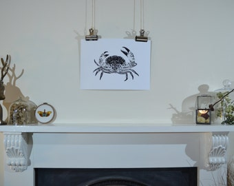 Hand-drawn crab illustration