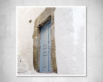 Door Photography Blue Door Fine Art Print Greece photography Travel Photography Greek Blue Decor Housewarming Gift Hostess Gift