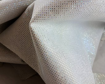 2 Polka dots leather hides with glitter effect A129