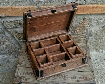 wood jewelry box , reclaimed wood keepsake box , rustic style