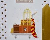 Carte Postale-Harry Potter-Voie 9 3/4