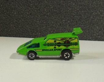 1977 Hot Wheels Flying Colors Lime Green Spolier Sport Toy Car with Split Back Window