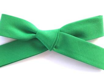 Large Retro Bow     kelly green