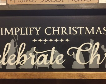Simplify christmas nativity sign