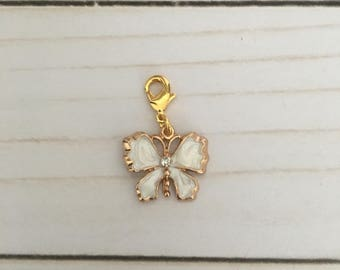 Butterfly Charm- White