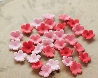 Set of 100 small edible fondant flowers, Fondant flowers for cake, Pre made fondant flowers, Cupcake flowers