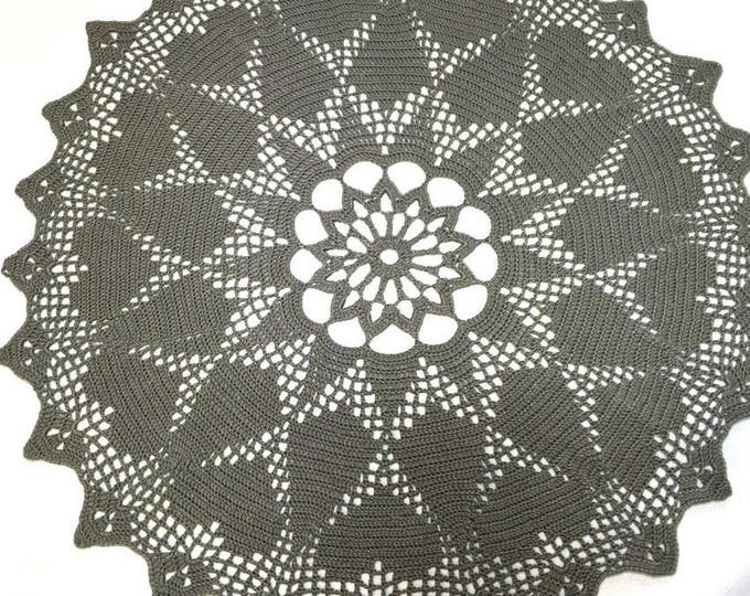 All cotton heart doily