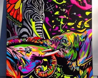 Pop art Elephants
