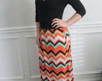 One of a kind Maxi Skirt with wide elastic band